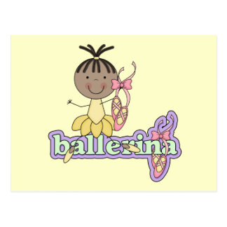 Ballerina - Yellow T-shirts and Gifts Postcards