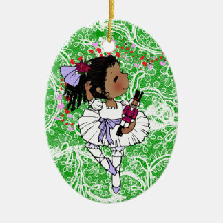 Ballerinas African American Girls Adorable Christmas Ornament