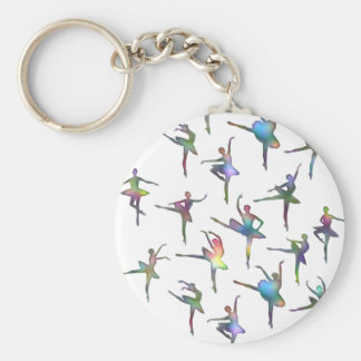 Ballerinas Basic Round Button Key Ring
