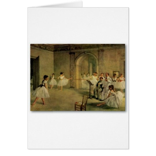 Ballerinas By Edgar Degas Card
