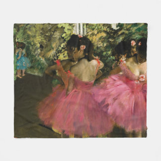 Ballerinas in Pink by Edgar Degas Fleece Blanket