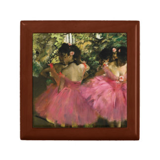 Ballerinas in Pink by Edgar Degas Small Square Gift Box