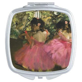 Ballerinas in Pink by Edgar Degas Vanity Mirror