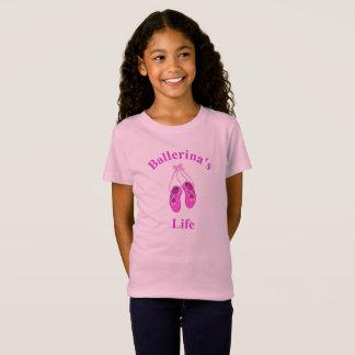 Ballerina's Life, Cute Pink Ballet Slippers Tshirt