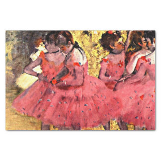 Ballerinas - Pink Dancers, art by Degas Tissue Paper