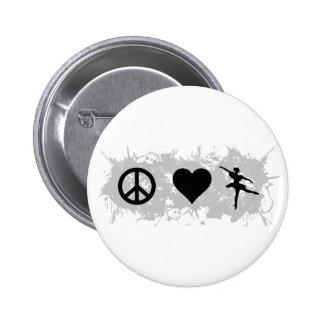 Ballet 5 6 cm round badge