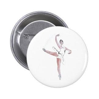 Ballet 6 Cm Round Badge