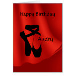 Ballet Ballerina Birthday Pointe Shoes Greeting Greeting Card