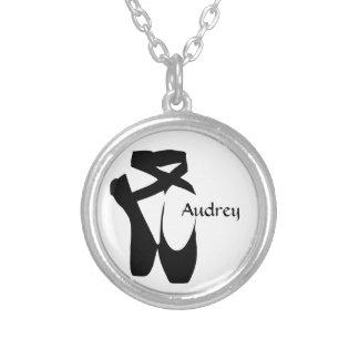 Ballet Ballerina Black Pointe Custom Necklace