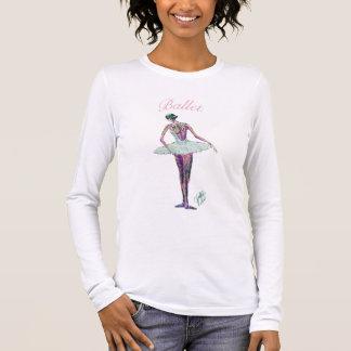 Ballet Ballerina in White Tutu pink T-Shirt