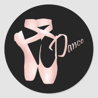 Ballet Ballerina Pink Pointe Shoes Dance Sticker