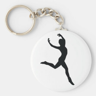Ballet Basic Round Button Key Ring