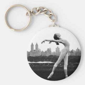 ballet basic round button key ring
