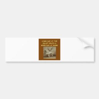 ballet bumper stickers