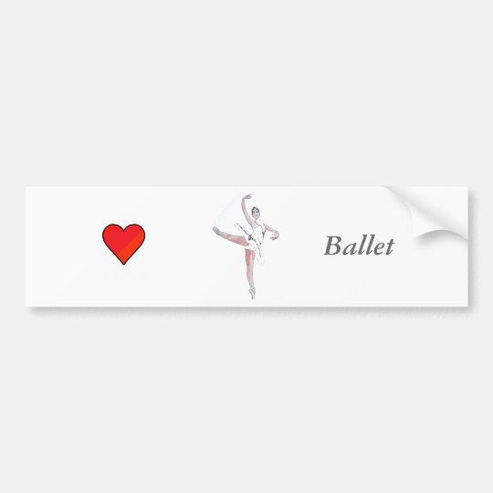 Ballet Bumper Sticker