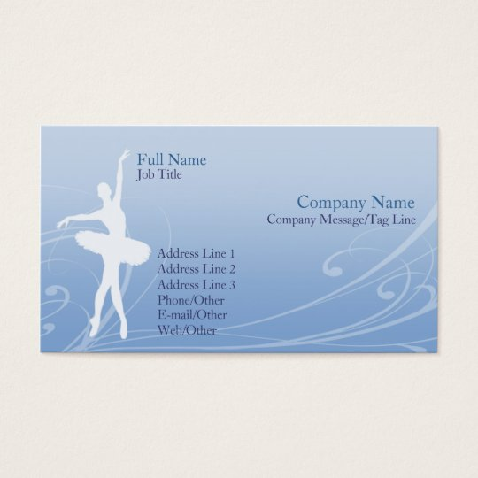 Ballet Business Card