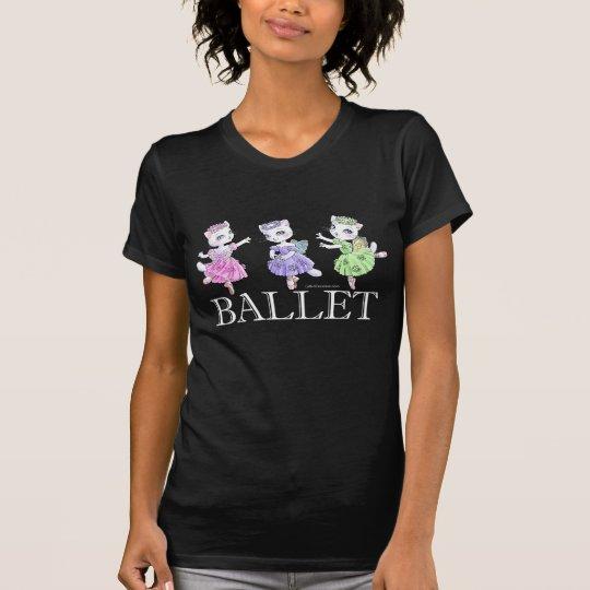 Ballet Cats Dark T-shirt