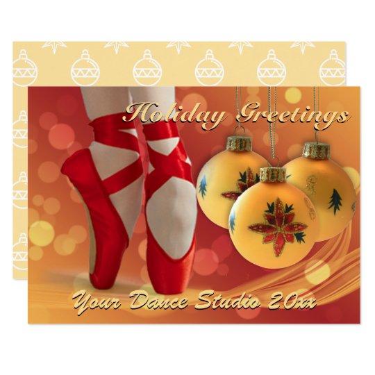 Ballet Christmas Holiday Greeting Card