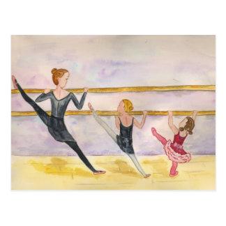 Ballet Class Postcard