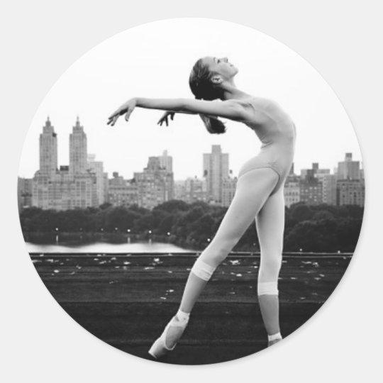 ballet classic round sticker