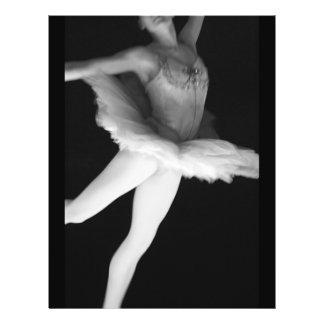 Ballet - Dance - Ballerina 9 - Black & White 21.5 Cm X 28 Cm Flyer