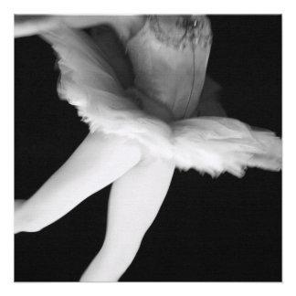 Ballet - Dance - Ballerina 9 - Black White Personalized Invite