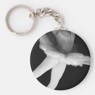 Ballet - Dance - Ballerina 9 - Black & White Key Ring