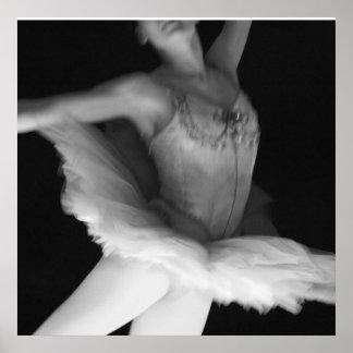 Ballet - Dance - Ballerina 9 - Black & White Print