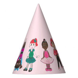 Ballet Dance Birthday Party Ballerina Girl Dancers Party Hat