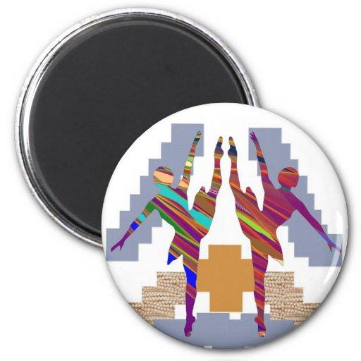 BALLET DANCE CLASS : Love my team Refrigerator Magnets
