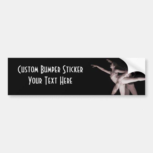 Ballet - Dance Partners 2 - Red Bumper Sticker