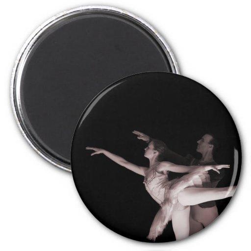 Ballet - Dance Partners 2 - Red Fridge Magnets