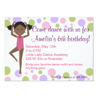 Ballet Dance Party Invitation