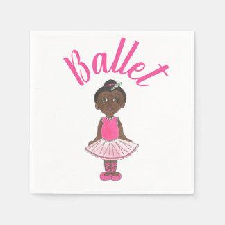 Ballet Dance Recital Pink Tutu Ballerina Dancer Disposable Napkin