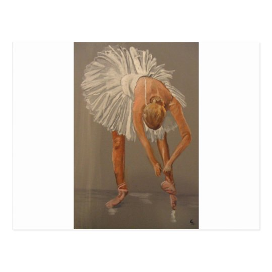 Ballet dancer 1 postcard