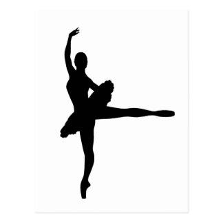 BALLET DANCER Arabesque (Ballerina silhouette) ~.p Postcard