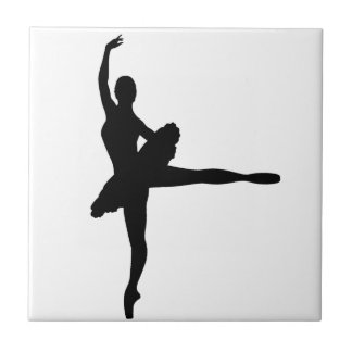 BALLET DANCER Arabesque (Ballerina silhouette) ~ Small Square Tile