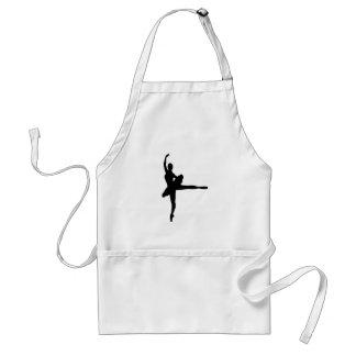 BALLET DANCER Arabesque (Ballerina silhouette) ~ Standard Apron