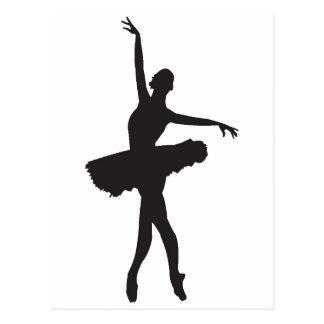 BALLET DANCER (Ballerina silhouette) ~.png Postcard