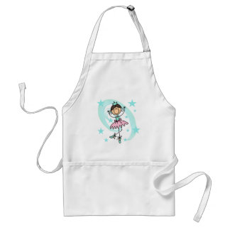 Ballet Dancer - Brown T-shirts and Gifts Adult Apron