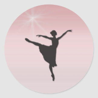 Ballet dancer classic round sticker