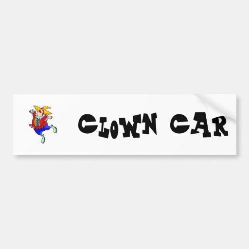 Ballet Dancer Clown Car Bumper Sticker