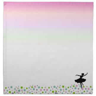 Ballet Dancer Dancing amongst the stars - pink Napkin