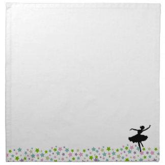 Ballet Dancer Dancing amongst the stars - white Napkin