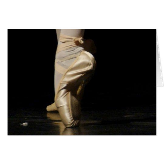 Ballet Dancer Dancing on Toes, En Pointe Card