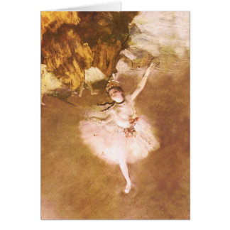 Ballet Dancer Degas Star Impressionist Painting Greeting Card