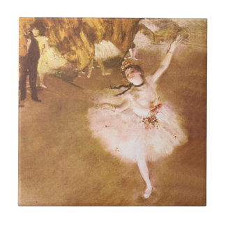 Ballet Dancer Degas Star Impressionist Painting Small Square Tile