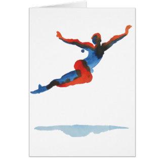 Ballet Dancer Flying Greeting Card
