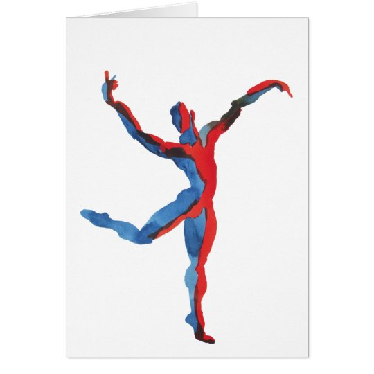 Ballet Dancer Gesturing Card