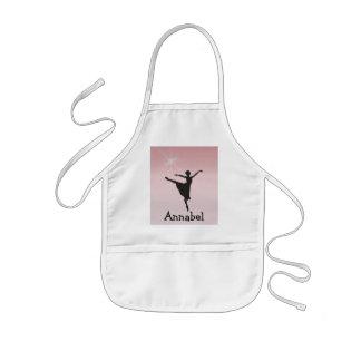 Ballet dancer kids apron